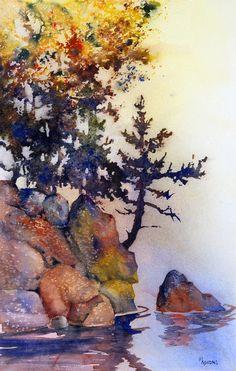 Waters Edge Painting  - Waters Edge Fine Art Print