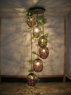 Handmade art lamp cane makes up pedant lamp creative arts rural droplight sitting room bedroom chandwhat a country style chandeliers Diy Home Crafts, Diy Home Decor, Rattan Pendant Light, Fleur Design, Lampe Decoration, Woven Chair, Chandelier Bedroom, House Plants Decor, Handmade Art