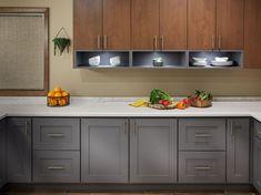 Mid-Century Modern Kitchen - Crystal Cabinets Kitchen Cabinets Materials, Kitchen Cabinets For Sale, Kitchen Cabinets Pictures, Kitchen Ideas, Kitchen Sink Design, Modern Kitchen Design, Modern Kitchen Renovation, Kitchen Remodel, Kitchen Cabinet Molding