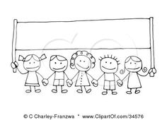 Image result for kids holding letters clipart