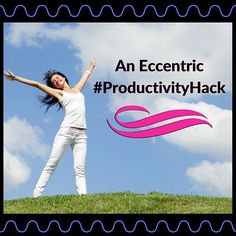 I totally just realized that I have this eccentric productivity hack. I bust out with it especially when I don't feel like working... I think you might find it fun!  I just caught myself dramatically signing in musical style as I write me to do list. Typing everything I sing, including the catchy phrases I add onto the end and throughout.  I realize I've been doing this for a while!  Sometimes I forget to write a list when I have some of my regular tasks to do. It's the same stuff I do…