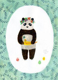 hello panda via @Justina Siedschlag Siedschlag Siedschlag Blakeney