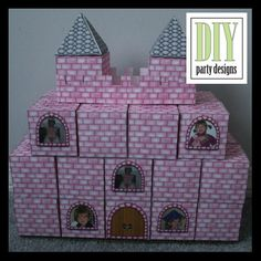 princess-castle, apparently you can order this --OR -- just DIY w/ used tissue boxes and scrapbook paper!  Love the custom picture windows.