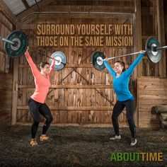 ABOUTTIME Elite CrossFit Athletes Julie Foucher and Christy Adkins. They met at the 2010 CrossFit Regionals and have been friends, training partners, and competitors ever since   http://tryabouttime.com/athletics/