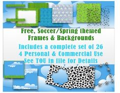FREE Soccer/Spring Theme Frames & Borders Set