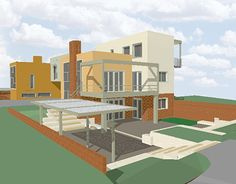 """Check out new work on my @Behance portfolio: """"Twin house"""" http://be.net/gallery/32412051/Twin-house"""