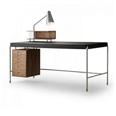 Arne Jacobsen Society Table Writing Desk by Carl Hansen and Son Bedroom Minimalist, Minimalist Furniture, Furniture Plans, Furniture Decor, Furniture Design, Unique Furniture, Smart Furniture, Living Furniture, Furniture Arrangement