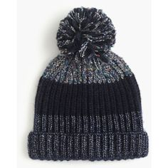 J.Crew Italian Wool-Blend Striped Hat (£22) ❤ liked on Polyvore featuring accessories, hats, stripe hat, striped hat and j crew hat