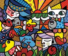 Romero Britto Wallpaper Modern Art