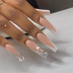 Bling Acrylic Nails, Square Acrylic Nails, Best Acrylic Nails, Bling Nails, Swag Nails, Coffin Nails, Gel Nails, Grunge Nails, Rhinestone Nails