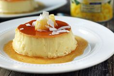 Delicious recipe of Pineapple and coconut flan, a tasty way of surprising your family with a yummy dessert, which you'll definitely enjoy. Delicious Desserts, Yummy Food, Tasty, Dole Pineapple Juice, Coconut Flan, Flan Cake, Simply Recipes, Latin Food, Gastronomia