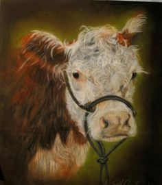 Painting of a hereford