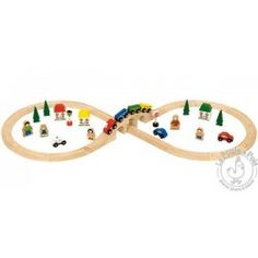 Circuit de train en huit - Bigjigs