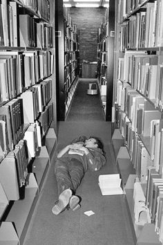On November 22, 1983, a student found a unique place to catch some shut-eye in Mugar Library.