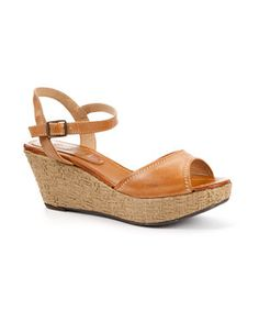 Tan (Stone ) Straw Platform Wedge Leather Sandals | 240682218 | New Look