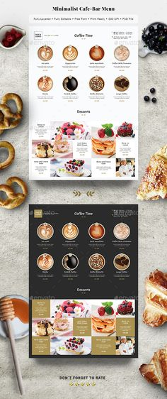 #Minimalist #Cafe-Bar Menu - Restaurant Flyers