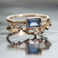 True Blue Sapphire Ring - Wedding & Engagement - Catbird
