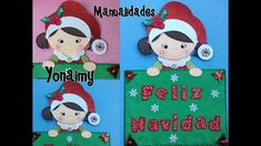 LETRERO FELIZ  NAVIDAD DE FOAMY O GOMA EVA. Kids Rugs, Christmas Ornaments, Holiday Decor, Crafts, Friends, Google, Youtube, Xmas, Merry Christmas Banner