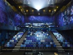Kvadrat upholstery textiles have been used for the seating at the Grand Theatre, which forms part of La Fabrique, a cultural hub in Nantes. The 1200 seats in the Grand Theatre are upholstered in blue, grey and purple tones of Topas.