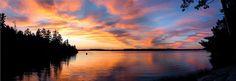 Early Sunset on Lake Temagami Sunrises, Beautiful Sunset, Landscape Photos, Ontario, Landscapes, Dads, Celestial, Outdoor, Paisajes