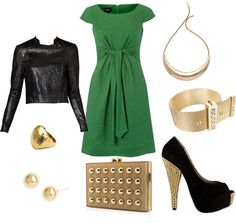 Green & Gold, created by teethomas on Polyvore