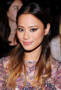 Jamie Chung's smudged cat-eye liner seems minimal, but adds a ton of depth to her look. // #Makeup #Beauty