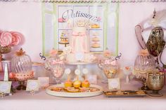 French Patisserie Printable Party Backdrop - You print. $20.00, via Etsy. Green Beansie Ink