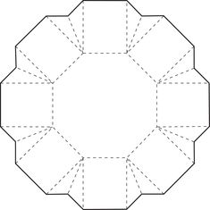 Octagonal Box Bottom · Box Template PrintablePaper ...