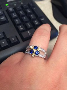 Zora's Sapphire engagement ring I had made for my girlfriend (now fiancé!)…