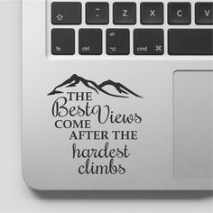 Macbook Decal Quote | Mountain Design | Motivational Laptop Decal Quote | Inspirational Macbook Sticker Quote by FixateDesigns on Etsy