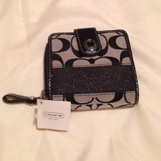 Wallet Black and grey coach wallet new with tags Coach Bags Wallets