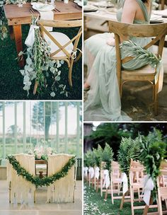 Gorgeous Greenery & Herb Wedding Decoration Ideas   See more on www.onefabday.com