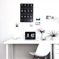 Monday mornings would surely look a lot better if our workspace looked like @ea_wang's  it may be May but it's never too late - we still have these amazing @snugstudio calendars in stock for the monochrome lovers out there! ✖️#snugstudio #workspace #interiorinspo #calendar #walldecor #wallprints: