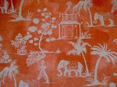 Clarke & Clarke Mandir F0760/02 cinnabar curtain fabric
