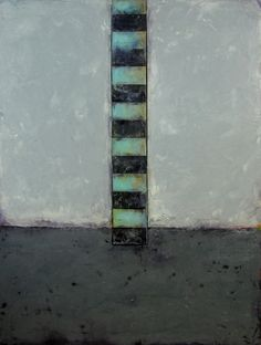 DeerIsle 2, 2012, GraceAnn Warn, oil, encaustic and paper on wood panel, 40 x 30 x 1 in., Ann Arbor, Michigan, USA.