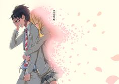 shigatsu wa kimi no uso, your lie in april, kousei arima, miyazono kaori Manga Anime, Fanart Manga, Film Anime, Sad Anime, Me Me Me Anime, Anime Love, Anime Art, Your Lie In April, Couple Manga