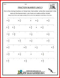 Fractions Worksheet -- Ordering Fractions on a Number Line -- Easy ...