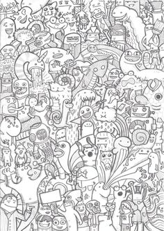 25 Beautiful Doodle Art works around the world | Read full article: http://webneel.com/doodle-art | more http://webneel.com/drawings | Follow us www.pinterest.com/webneel