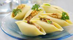 Muschelnudeln mit Thunfisch gefüllt