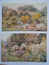 2 VINTAGE POSTCARDS FROM 'THE GARDEN THAT I LOVE' ALFRED AUSTIN/GEORGE S ELGOOD