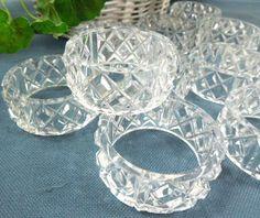Vintage Clear Napkin Rings Set of 12 pressed by ReneesRetro #vintage #Christmas #etsy THIS ITEM SOLD