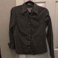 Grey dress shirt. 100% cotton. Very comfortable. Eddie Bauer Tops Button Down Shirts