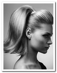 Prefect for my poodle skirt (prom hair updo ponytail) Grease Hairstyles, Retro Hairstyles, Ponytail Hairstyles, Girl Hairstyles, Wedding Hairstyles, Hair Ponytail, 1950s Hairstyles For Long Hair, Ponytail Bump, Stylish Ponytail