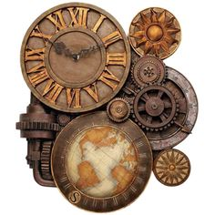 So many clocks to be had, so little time. We at GeekAlerts are drawn to clocks with exposed gears, some that move and some that don't. Among our treasure trove, we have the Steampunk, Triangle Moving Gear, Invotis, and Visible Dual Gear wall clocks. The Gears of Time Wall Clock has chunky gears for decorative purposes, but overall the clock is stunning with its copper-toned resin finish and old world charm.