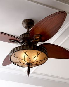 """Venetian Bronze"" Ceiling Fan at Horchow."