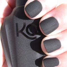 I finally got my Knockout matte nail polishes and the sun came out for a little bit so I could take some good pics. These colors were created by Mike Matte Black Nails, Matte Nail Polish, Uv Gel Nails, Diy Nails, Gel Polish, Mani Pedi, Manicure And Pedicure, Chalkboard Nails, New Nail Art