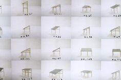 Housing for elderly by Junya Ishigami - roof studies. Source: JA78