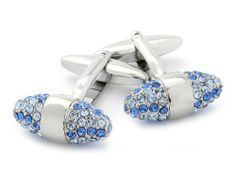 Swarovski Crystal Cone Cufflinks Sapphire Cuff-Daddy. $33.99