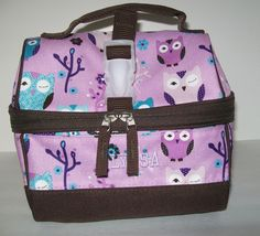 Pottery Barn Kids Purple Owl Lunchbox Personalized ALYSSA Retro Mackenzie Bag #PotteryBarnKids