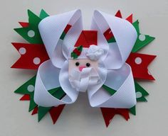 St. Nicholas Boutique Bow  4.5 inch Boutique Christmas Tree Bow/alligator clip  $8.50 Shipped   (3 Available)